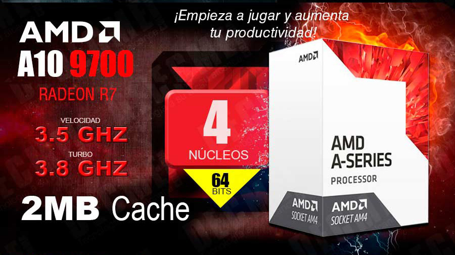 PC GAMER BARATA 2018 AMD A10 VIDEO 2GB DDR4 EN MEXICO