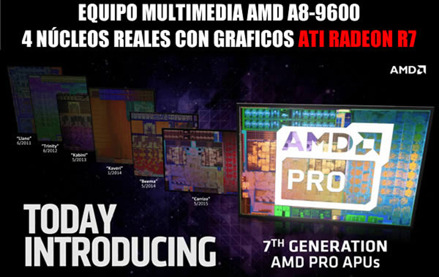 PC GAMER BARATA AMD A8 9600 4 NUCLEOS MAS VIDEO 2GB DDR4 EN MEXICO