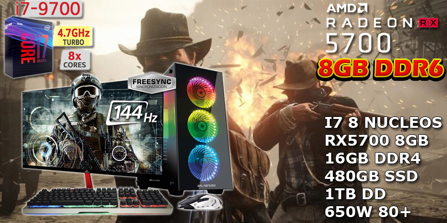 pc gaming profecional para competicion core i7 rx 5700 8gb ddr6 en mexico