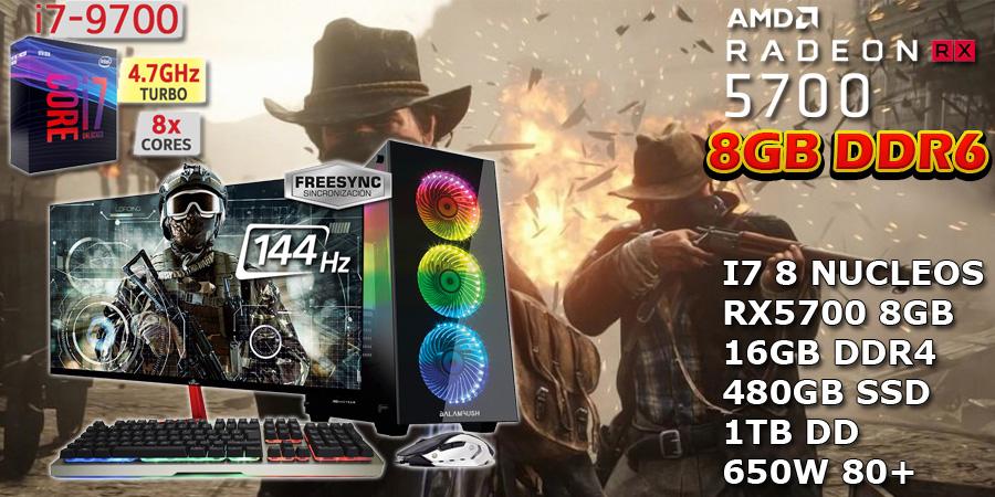 pc gaming profecional para competicion core i7 rx 5700 8gb ddr6 en mexico