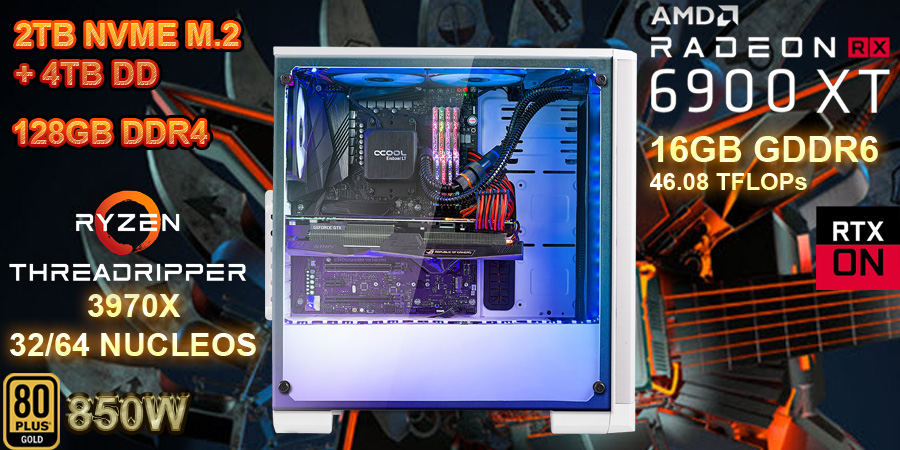 pc workattion profecional para produccion, modelado y animacion, render 3d y 360, deep learning, inteligencia artificial
