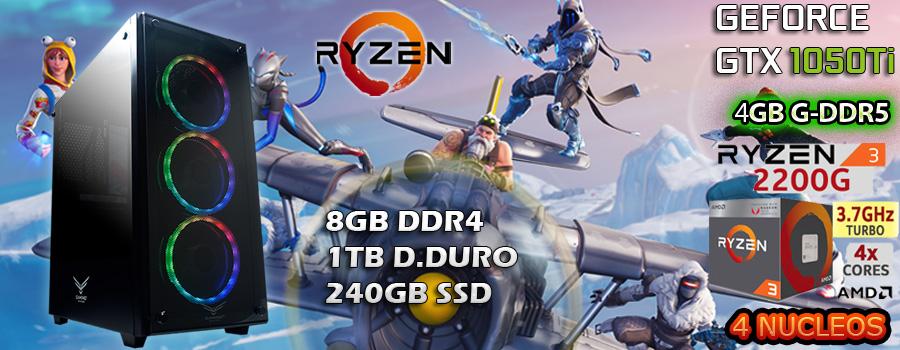 comprar pc gamer barata ryzen 3 video nvidia gtx 1050ti 4gb en mexico pc armada