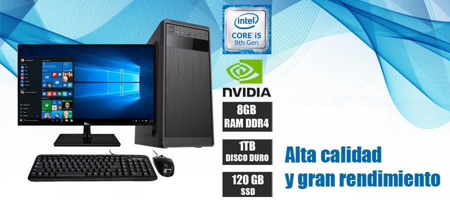 Nueva computadora de escritorio 2019 intel core i5 novena generacion 6 nucleos video nvidia 2gb ssd 1tb memoria ddr4 8gb en oferta mexico