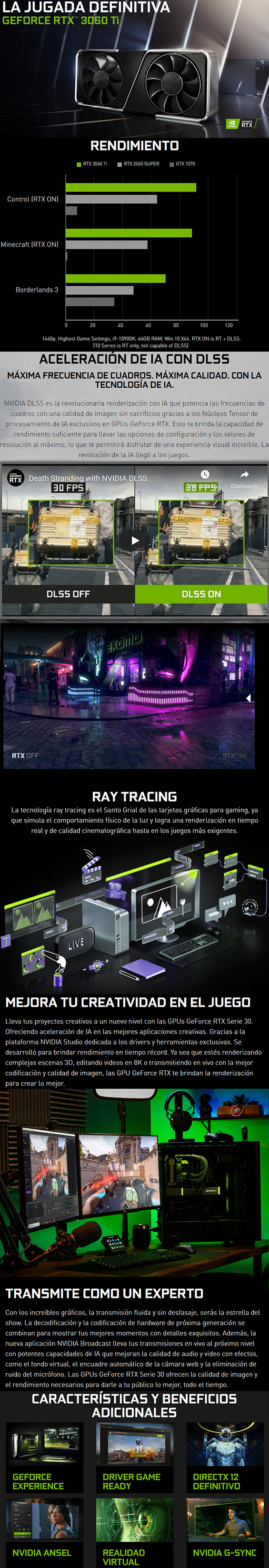 nuevas pc gamer y workstation con nvidia rtx 3060ti en mexico