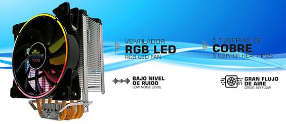 PC GAMER Y PRODUCION CON DISIPADOR RADIADOR RGB
