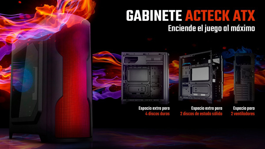 Gabinete gamer led rgb en oferta en mexico